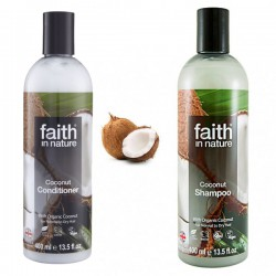Paket za suhe lase Faith in Nature (šampon in balzam)