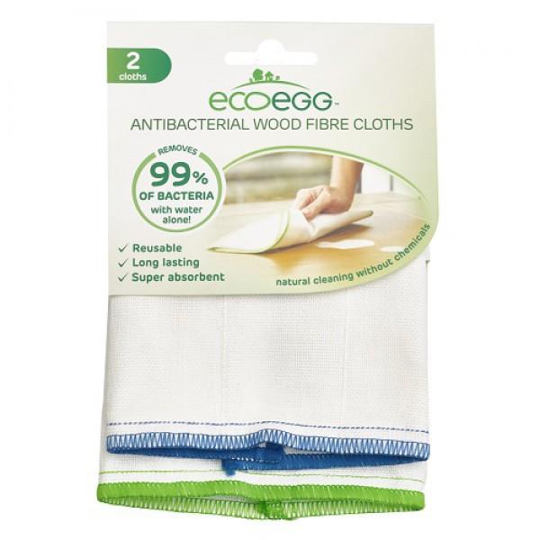 Antibakterijska krpa iz lesnih vlaken Ecoegg (2 kosa)