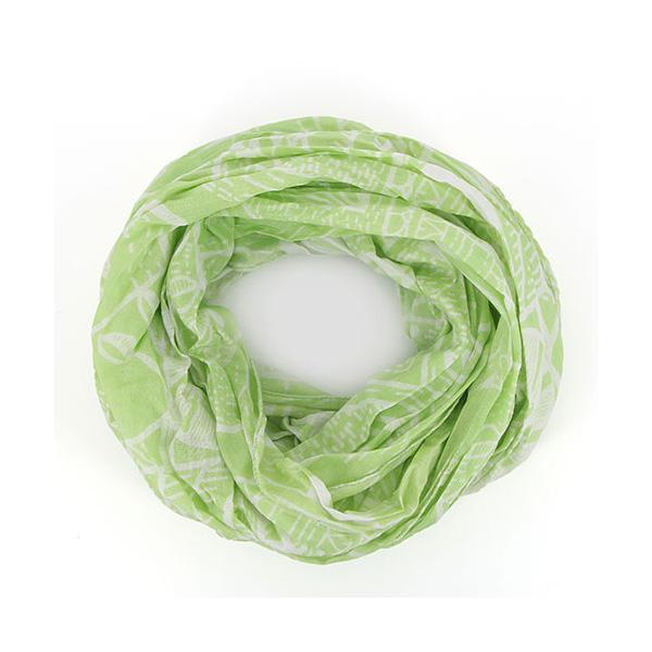 Bombažni cevasti šal Birdie - svetlo zeleni