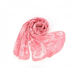 Bombažni šal Romance - koralni