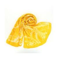 Bombažni šal Romance - rumeni