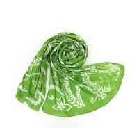 Bombažni šal Romance - zeleni