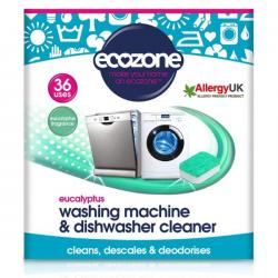 Čistilo za pomivalni in pralni stroj Ecozone (36 tablet) - evkaliptus