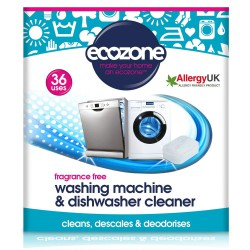 Čistilo za pomivalni in pralni stroj Ecozone (36 tablet) - brez vonja