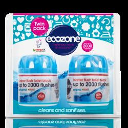 Čistilo za WC za v kotliček Ecozone (2 kosa)