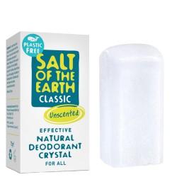 Naravni deodorant v kristalu brez plastike Salt of the Earth - 75 g (brez vonja)