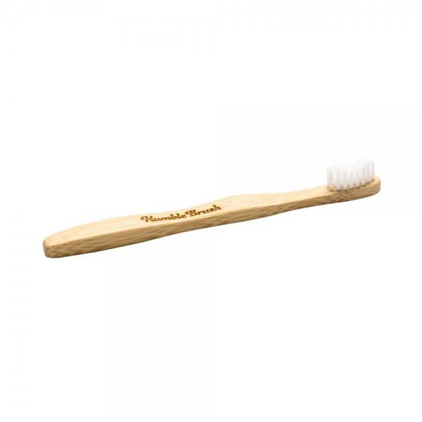 Naravna otroška zobna ščetka Humble Brush (soft, bela)