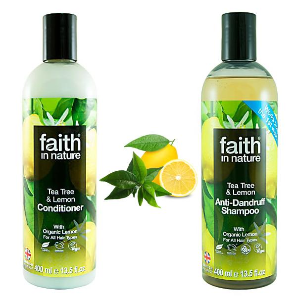 Paket proti prhljaju Faith in Nature (šampon in balzam)