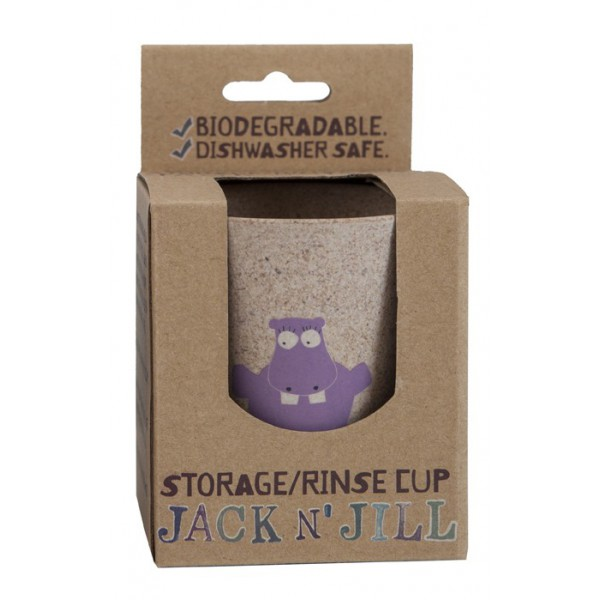 Lonček za zobne ščetke Jack'n'Jill (hippo)