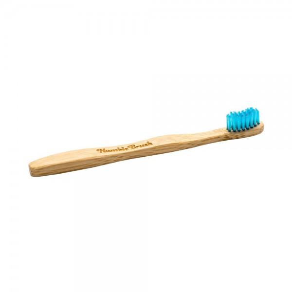 Naravna otroška zobna ščetka Humble Brush (soft, modra)