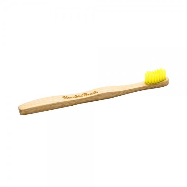 Naravna otroška zobna ščetka Humble Brush (soft, rumena)