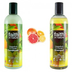 Paket za mastne lase Faith in Nature (šampon in balzam)