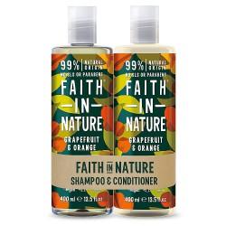 Paket za mastne lase Faith in Nature (šampon in balzam)