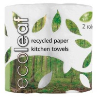 Papirnate brisače Ecoleaf (2 roli, 3-slojne)