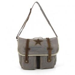 Platnena vintage torba na preklop Star