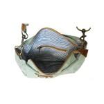 Platnena vintage torba z zadrgo Chick