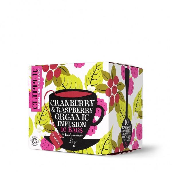 Sadni čaj Clipper Organic (brusnica in malina)