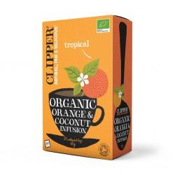 Sadni čaj Clipper Organic (pomaranča in kokos)